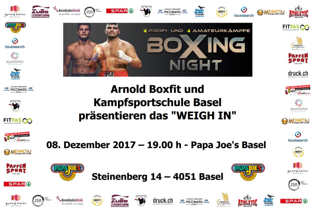 Sponsoring und Support von Arnold Boxfit und Arnold 'The Cobra' Gjergjaj