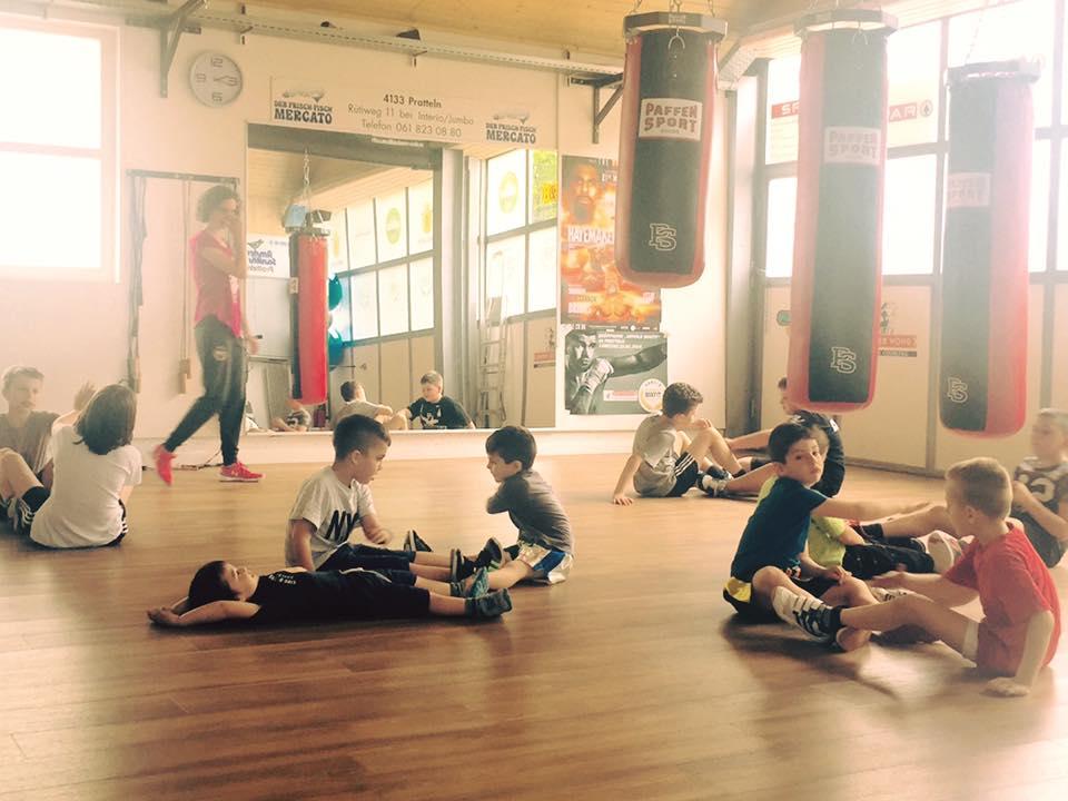 Fitnesstraining für Kinder (9-12 Jahre) bei Arnold BoxFit 4133 Pratteln