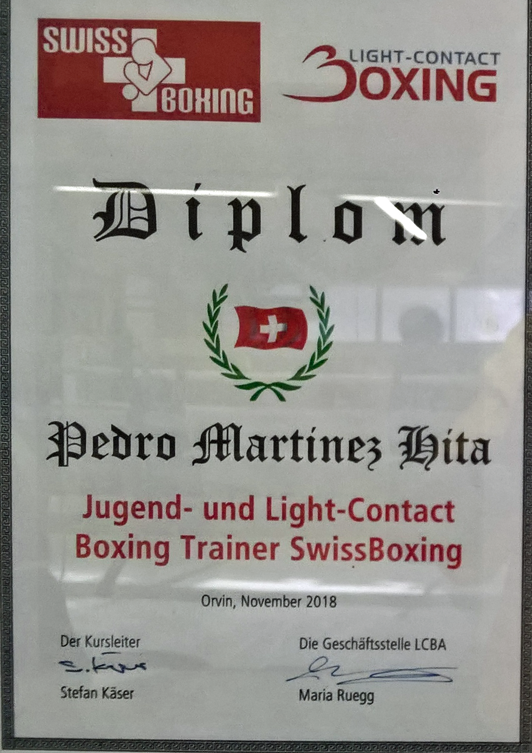 Diplom Jugend- und Light-Contact Boxing Trainer SwissBoxing