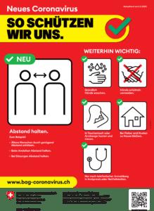 Corona-Virus Verhaltens- und Hygieneregeln BAG